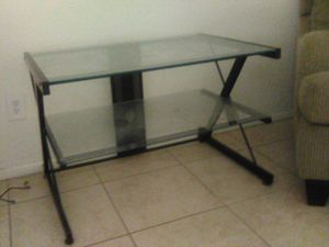Glass TV stand about 2 1\ 2 ft tall for Sale in Phoenix, AZ