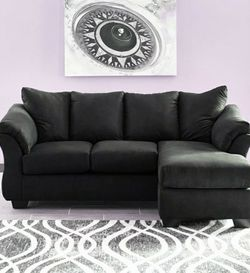 🍸İn Stock ⏳[SPECIAL] Darcy Black Sofa Chaise by Ashley for Sale in Alexandria,  VA