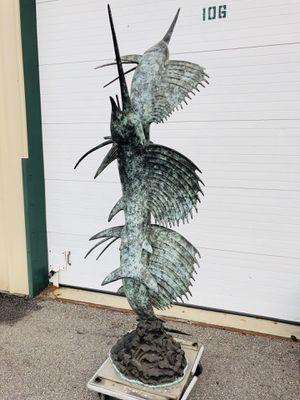 Bronze- Unique Sword Fish fountain statue. for Sale in Virginia Beach, VA