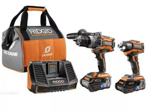 Ridgid Octane R9500 Brushless 18v Hammer Drill/ Driver and impact driver for Sale in St. Petersburg, FL