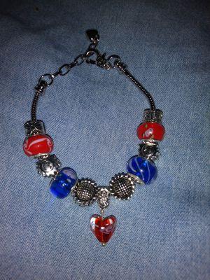Red, Blue & Silver Charm Bracelet for Sale in Detroit, MI