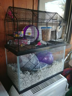 2 floor small animal cage and tank for Sale in Everett, MA