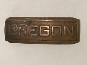 "ANTIQUE SOLID BRASS 'OREGON' BELT BUCKLE 2.5"" x 1"" for Sale in Tempe, AZ"