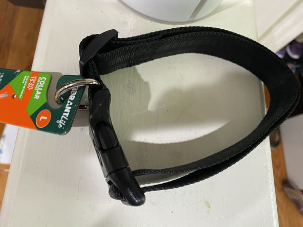 Brand new large black dog collar