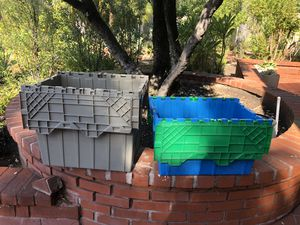 2 Storage Container Bins with Attached Lids for Sale in Irvine, CA