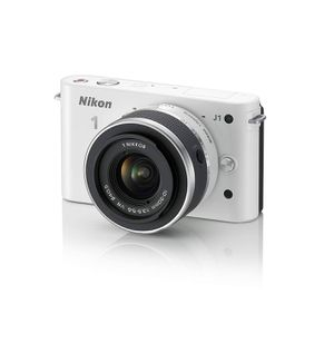 Nikon 1 J1 10.1MP Digital Camera Body with 10-30mm VR Kit Lense - White for Sale in Rivergrove, OR