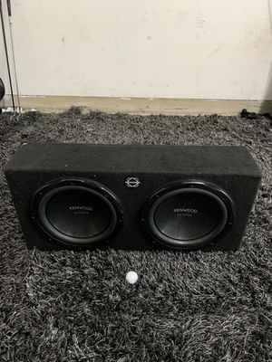 "(2) Kenwood eXcelon 12"" Subwoofers for Sale in Seattle, WA"