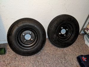Trailer rims and tires great condition for Sale in Kissimmee, FL
