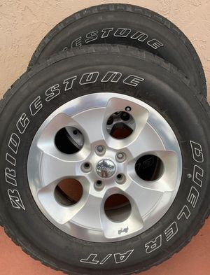 Jeep Sahara Wheels Tires and Rims 4! for Sale in Miami Lakes, FL