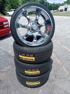 """22"""" rims and tires for Sale in Mableton, GA"""