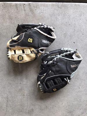 Kids Wilson Baseball Gloves.. Make Offer for Sale in Clovis, CA