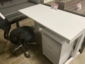 Student Desk with File Cabinet, White for Sale in Norwalk, CA