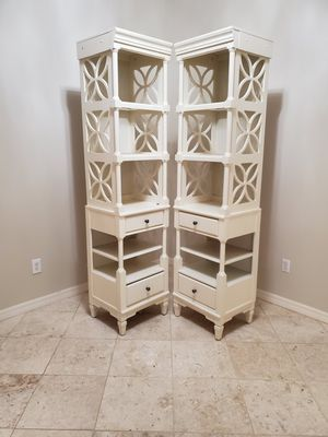 Off White Book Shelves- Set of 2 for Sale in Lutz, FL