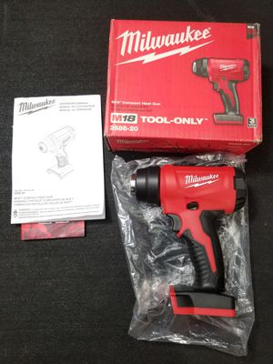 Milwaukee M18 compact cordless heat gun tool only 2688-20 for Sale in Pasadena, CA