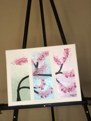 Cherry blossoms acrylic painting for Sale in Savannah, GA
