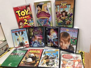 Lot 11 Kids Movies, 3 Disney Princess Toy Story 2 and 3, KungFu Panda, Madagascar and for Sale in Chicago, IL