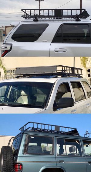 New in box XXL large 64x45x7 inches roof basket travel cargo carrier storage rack for suv car truck for Sale in Covina, CA