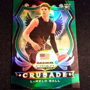 LaMelo Ball 2020 Panini Crusade Green Prizm! CHARLOTTE HORNETS NBA RISING STAR! for Sale in Delray Beach, FL