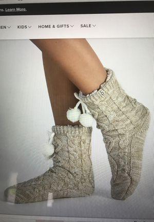 Ugg Pom Pom fleece lined crew socks for Sale in Las Vegas, NV