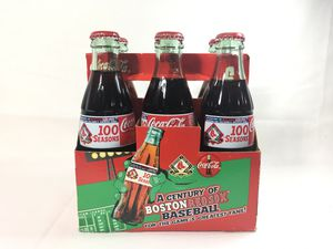 Coca Cola Boston Red Sox 100 Seasons at Fenway 6 pack Glass Bottles for Sale in undefined