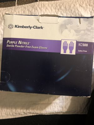 KIMBERLY CLARK purple nitrile EXAM GLOVES 50pairs $25 for Sale in El Monte, CA