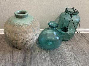 Decor vases candles for Sale in Denver, CO