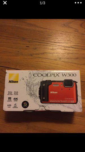NEW Nikon coolpix w300 digital waterproof camera 16mp 4K video WiFi for Sale in East Hartford, CT
