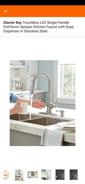 Touchless LED Single-Handle Pull-Down Sprayer Kitchen Faucet with Soap Dispenser in Stainless Steel for Sale in Cary, NC