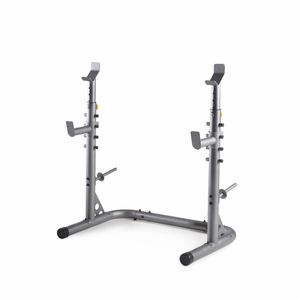 Olympic Squat Rack with Adjustable Safety Spotters and Integrated Weight Plate Storage for Sale in Anaheim, CA
