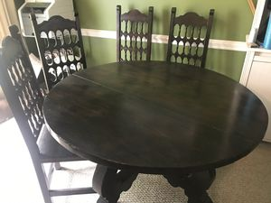 Antique dining table and 4 chairs for Sale in Roebuck, SC