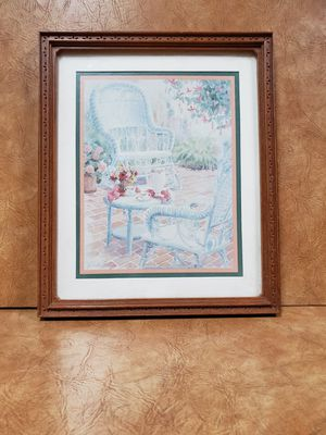 """Wicker chair with tea set portrait by """"Erikesn"""" for Sale in Chicago, IL"""