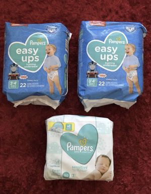 """PAMPERS easy ups & WIPES"" $6.00 EACH❗️ for Sale in Apple Valley, CA"