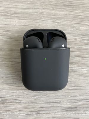 Brand New 1:1 MatteBlack Earbuds Airpods Style with Wireless Charging Case for Sale in Orlando, FL