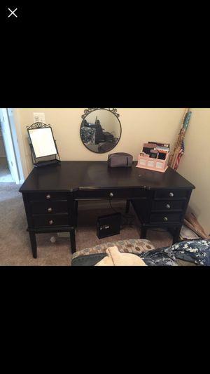 Ashley Furniture solid wood black desk for Sale in Washington, DC