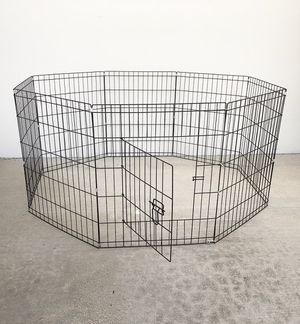 """New $35 Foldable 30"""" Tall x 24"""" Wide x 8-Panel Pet Playpen Dog Crate Metal Fence Exercise Cage Play Pen for Sale in Whittier, CA"""