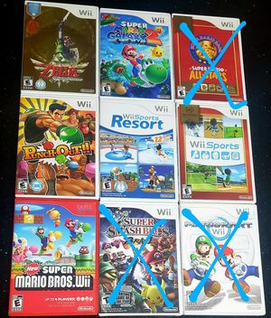 Nintendo Wii Games 30$ each for Sale in Long Beach, CA