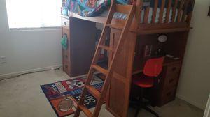 Bed w/ built in desk-shelf- kid cave for Sale in Goodyear, AZ