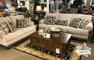 Brand New by Ashley Wheat Living Room Set, Sofa and Loveseat ♦️ $39 down payment for Sale in Houston, TX