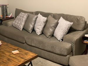 Couch with matching pillows for Sale in Bloomington, IL