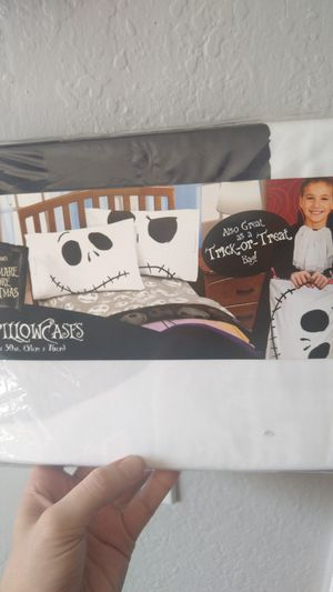 Two Nightmare before Christmas pillow cases for Sale in Phoenix, AZ
