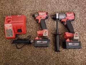 Milwaukee M18 FUEL 18-Volt Lithium-Ion Brushless Cordless Surge Impact and Hammer Drill Combo Kit. for Sale in Modesto, CA