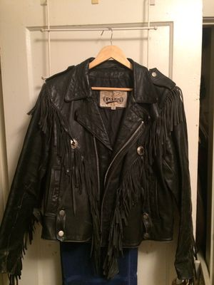 Vintage fringed motorcycle leather for Sale in Cleveland, OH