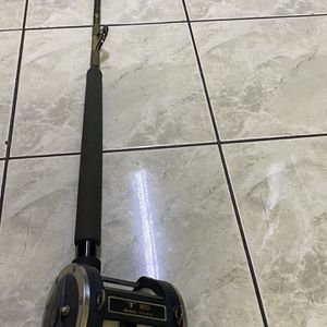 Calstar baby bomber 30-80lb deep sea heavy tuna fishing rod with Okuma Titus T50 trolling reel. $170 for Sale in Huntington Beach, CA