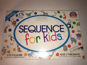 SEQUENCE For Kids Board Game NEW SEALED for Sale in Raleigh, NC