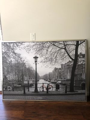 Large Canvas Print of Amsterdam for Sale in Arlington, VA