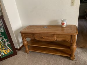 Console Table solid wood $100 Collinsville Pu for Sale in Collinsville, IL