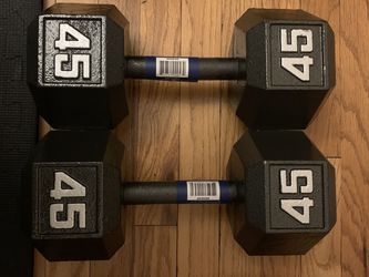 NEW HEX DUMBELL PAIR 45 LBS for Sale in Chicago,  IL