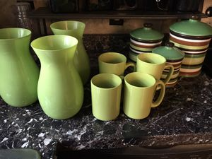 Kitchen Canisters Vases Mugs for Sale in Columbus, OH