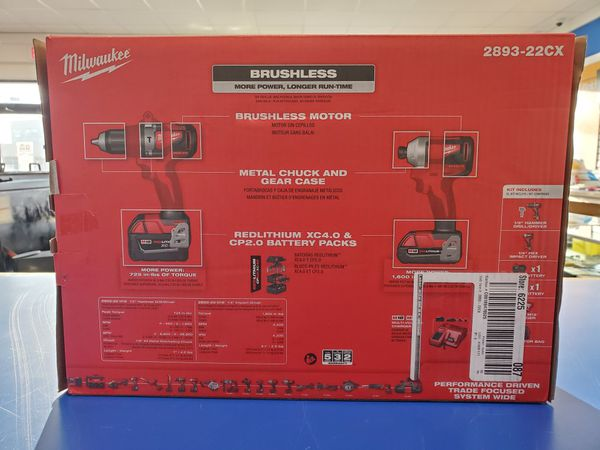 Milwaukee (2893-22CX) Brushless 2-Tool Combo Kit