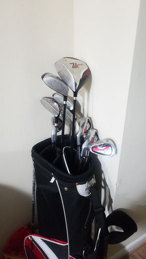 Golf Clubs and Bag of Golf Balls for Sale in Rockville, MD
